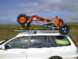 Buggy rack on the roof